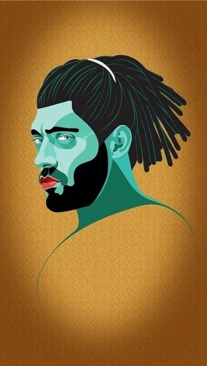 good head 2 - illustration, drawing - blueskythis | ello