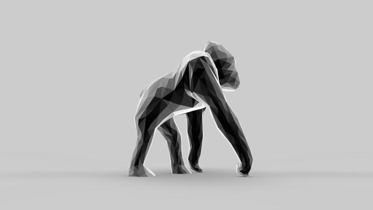 Gorilla - illustration, animation - merkic | ello