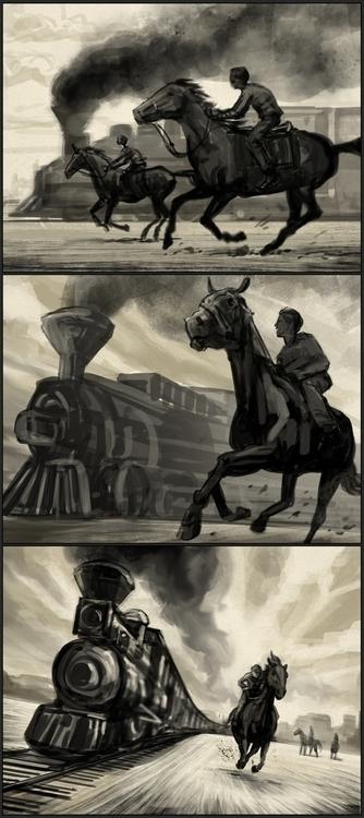 Modernity Race - oldwest, train - andrewcherry | ello