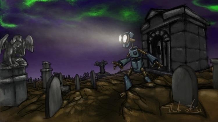 Death Robot Graveyard Concept - conceptart - hotsprocket | ello