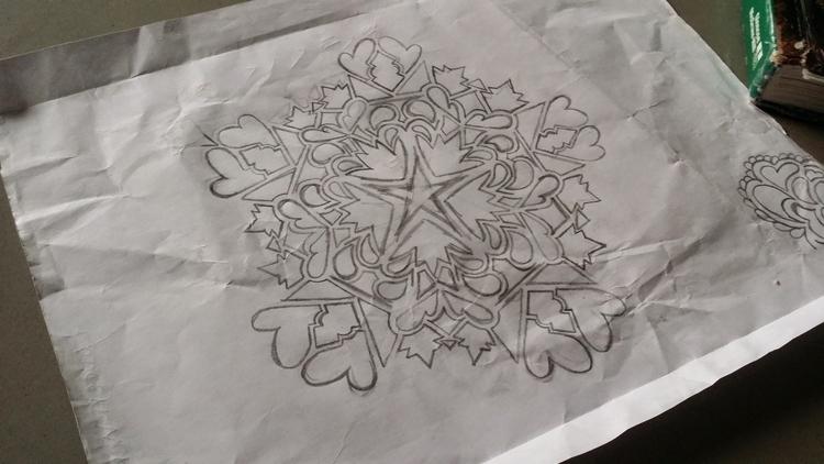 Doodle mandala, put pocket, pul - littleduffer20 | ello
