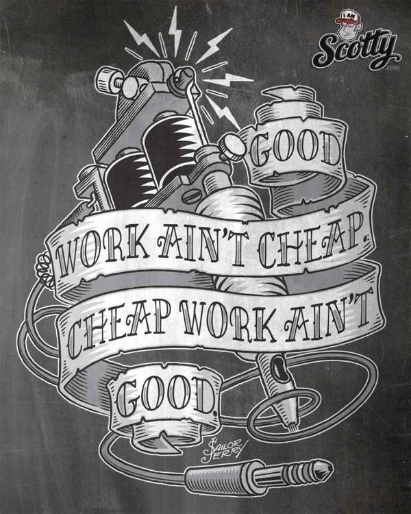 Sailor Jerry illustrated quote - scotty-6923 | ello