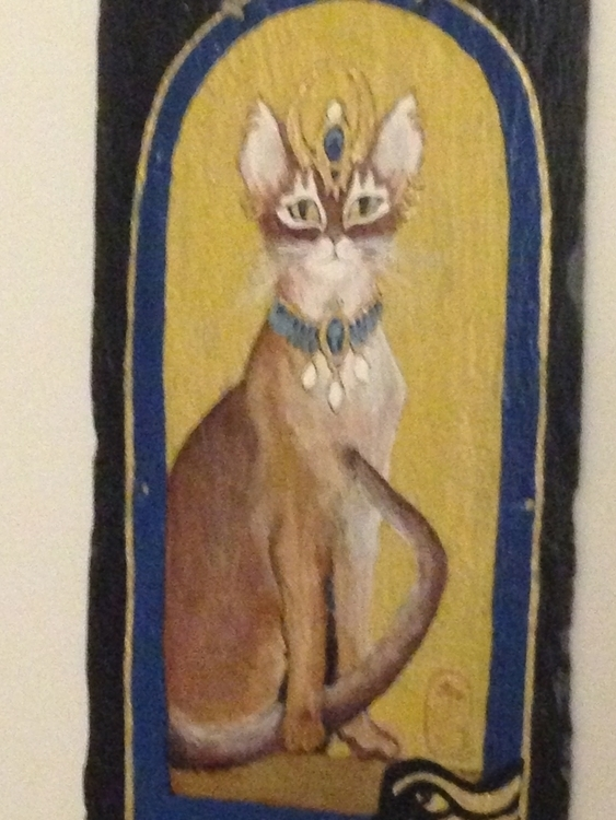 Egyptian Princess Kitty - #egypt#cats#worshipcats#golden#acrylic#slate#lovecats - kpowell-1395 | ello