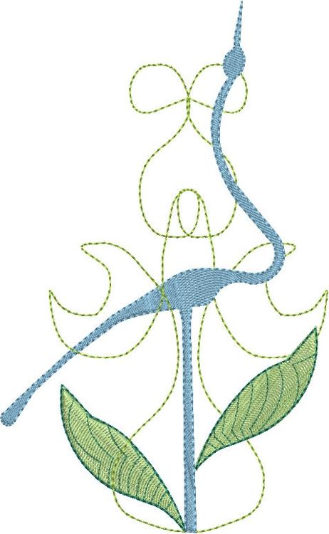 Crane - illustration, birds, embroidery - esn-3951 | ello