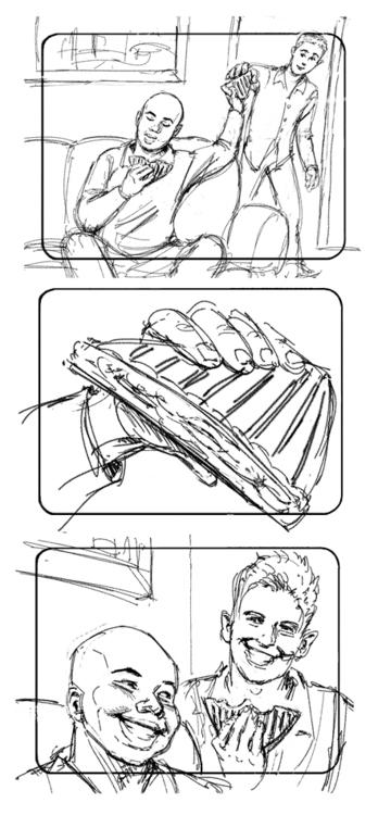 Hot Pockets-2 - storybord, illustration - doritart | ello