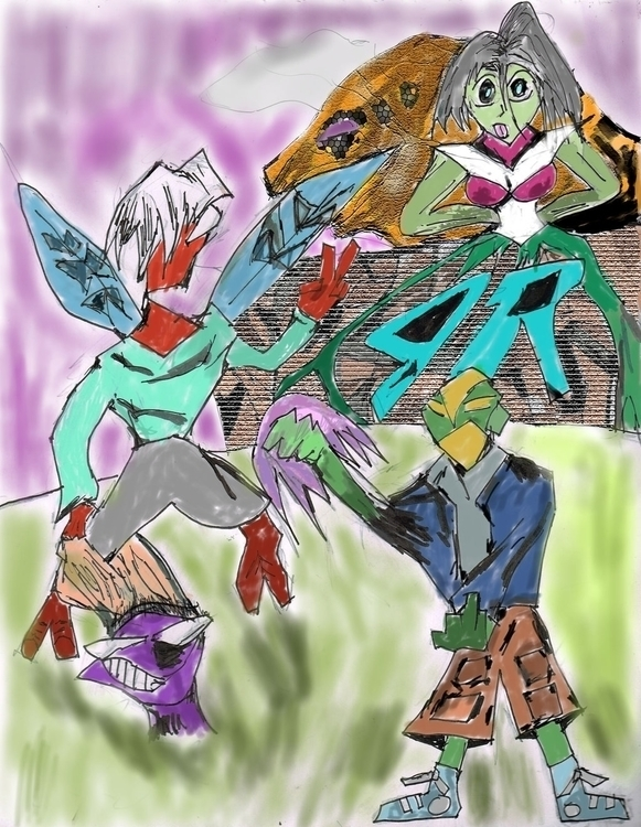 Play ground Clowns - illustration - janoryusaru | ello
