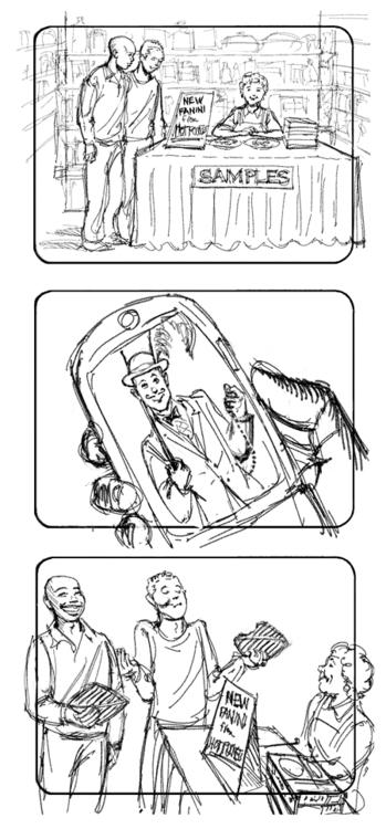 Hot Pockets-3 - storyboard, illustration - doritart | ello