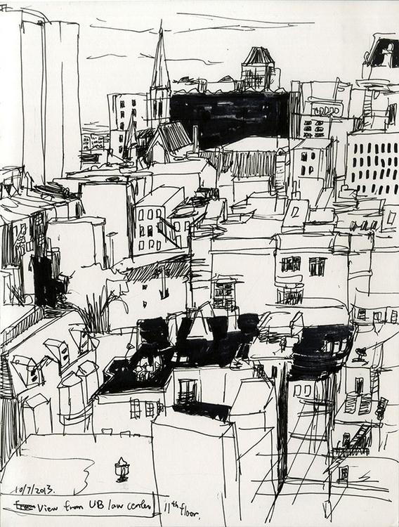 Random cityscape - blackandwhite - ononlao | ello