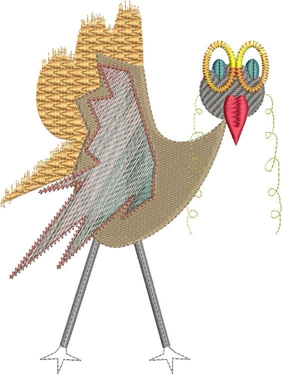 Big Eyed Birddie - illustration - esn-3951 | ello