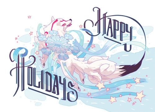 Okami holiday card Attract Mode - beatfist | ello