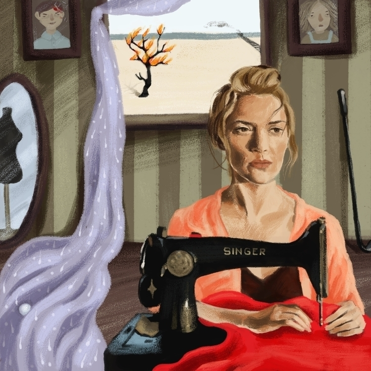 Dressmaker illustration - digitalart - prianikn   ello