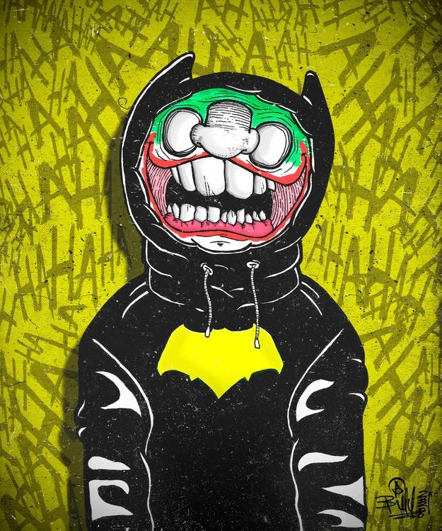 - Batfan Fart Knight - illustration - billy20200 | ello