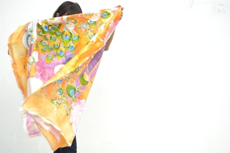 Silk painting S4 silk - sagarmatha   ello
