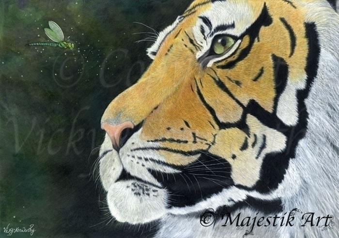 Captivate - tiger, art, colouredpencils - majestikart | ello