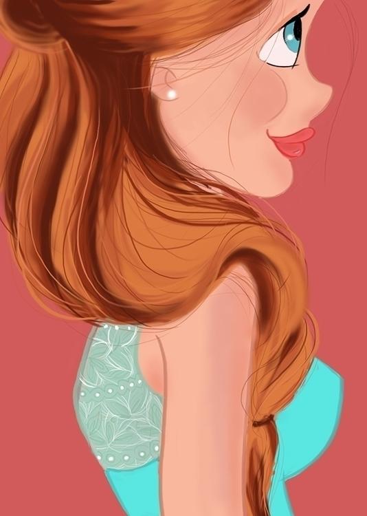 Peach - illustration, characterdesign - bhahghyhah   ello