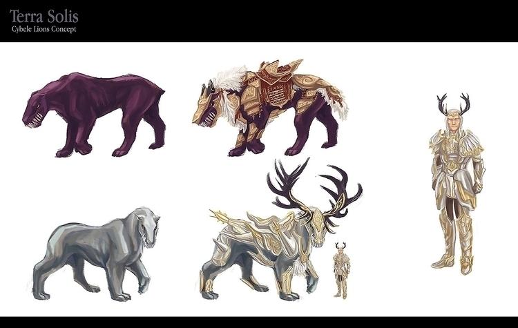 Character Design. Cybele Lions - anndorphin   ello