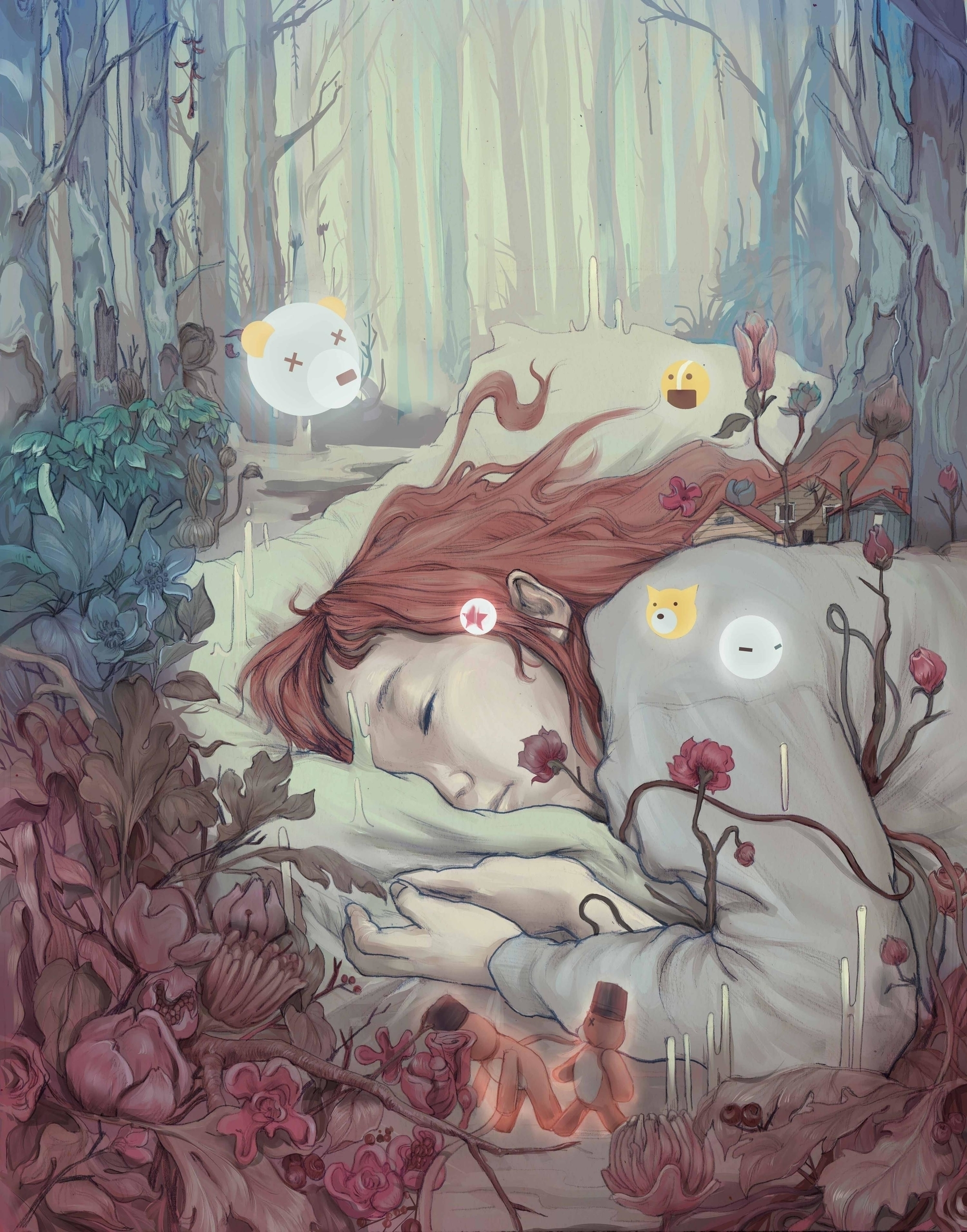 reeo, dream, girl, illustration - reeozerkos | ello