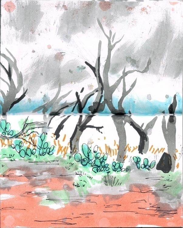 camping April - doodles, watercolor - scookart   ello