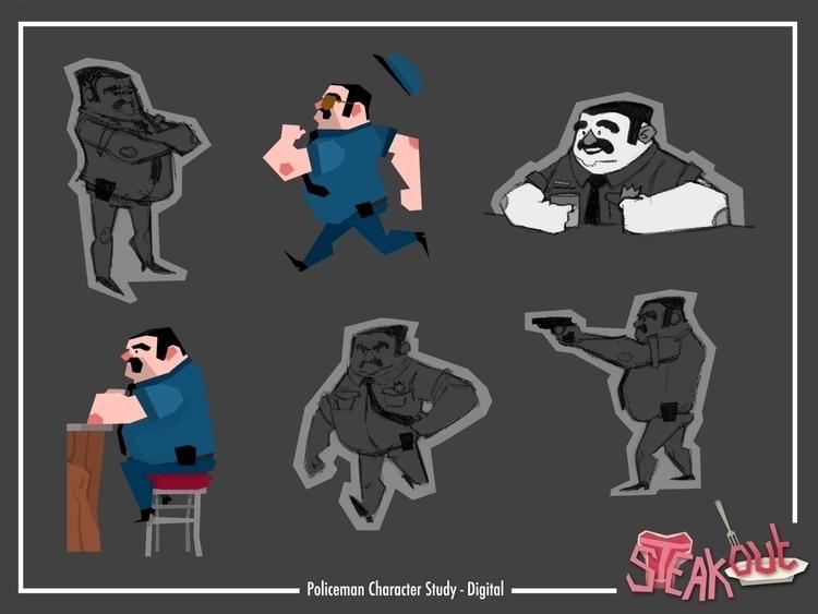 Steakout - Policeman Character  - michellemccammon | ello