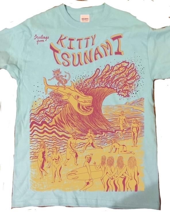 2 color design created Kitty Ts - alexdull | ello