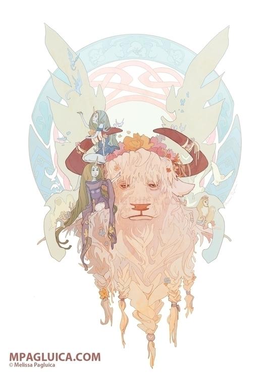 Spring Bull - spring, bull, unicorn - darksunrose | ello