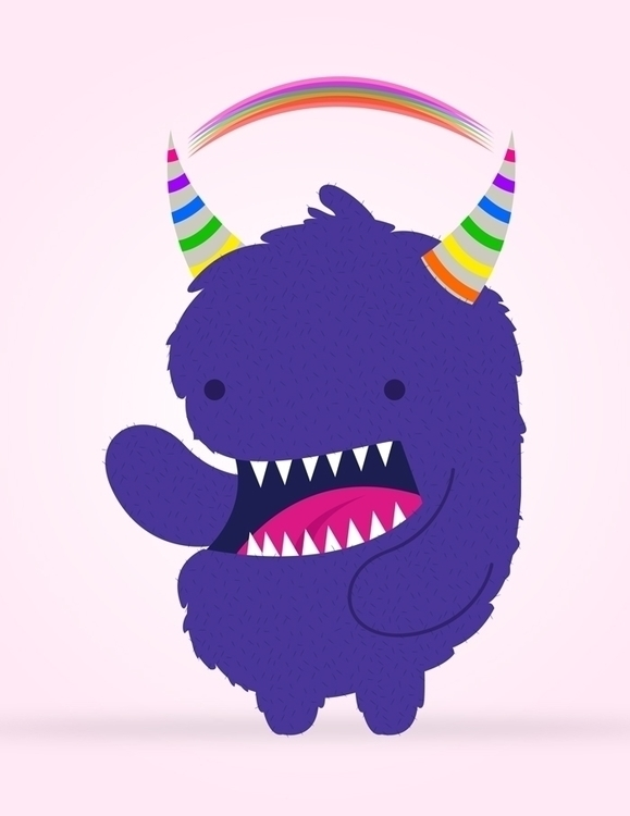 Rainbow - monster, rainbow, illustration - effy-1177 | ello