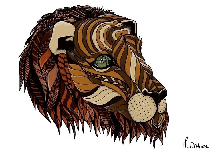 LION PATTERN - digitalart, digitalillustration - ilsemoar | ello