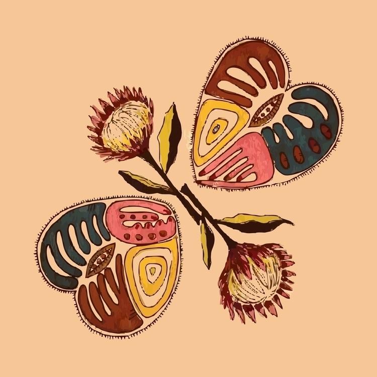 Proteas Hearts - illustration, painting - simonebonnett | ello