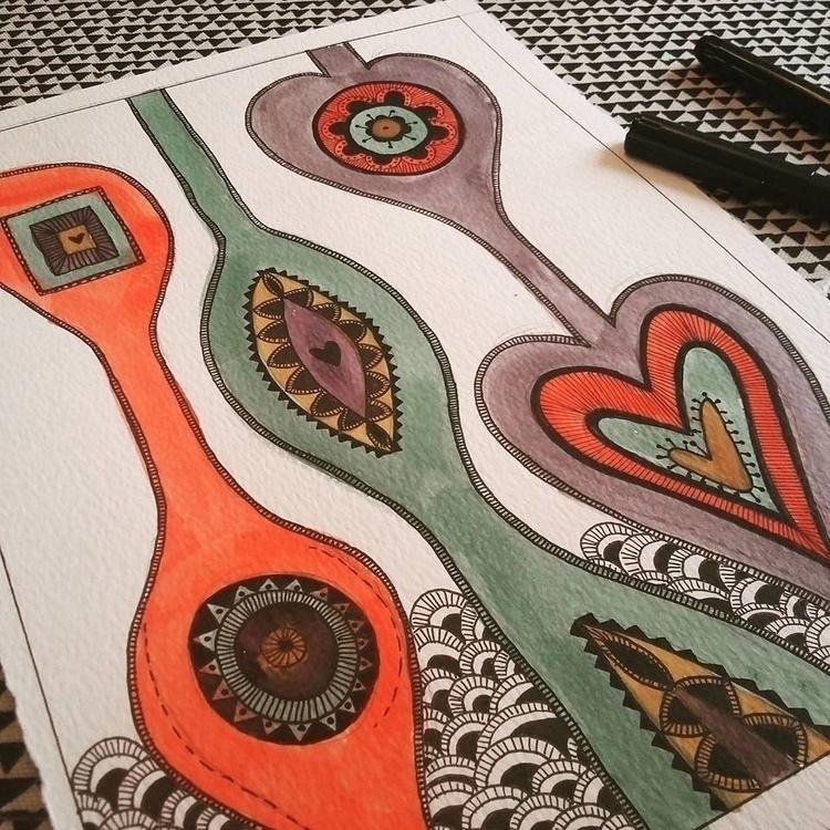Afrique - afro inspired doodle - simonebonnett | ello
