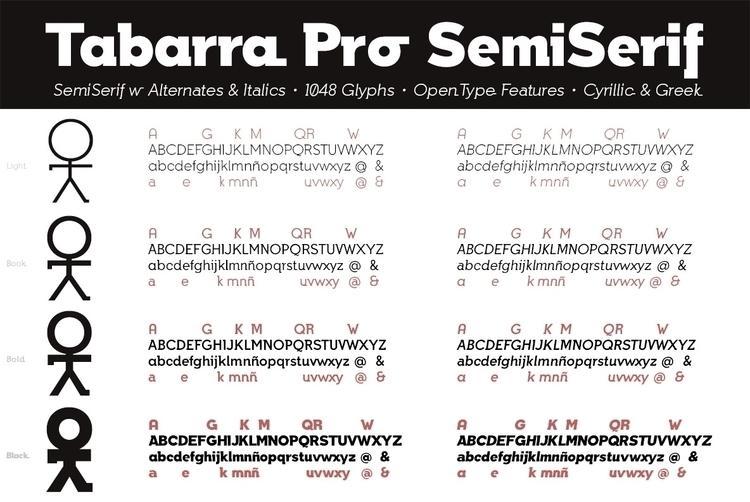 Tabarra Pro SemiSerif - typography - defharo | ello