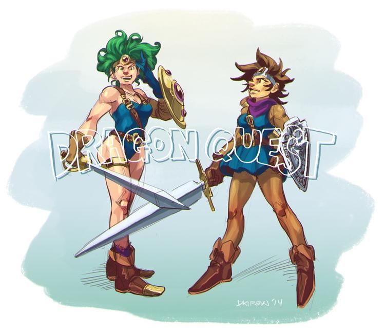Dragon Quest Heroine sketches - dkirbyj - dkirbyj | ello