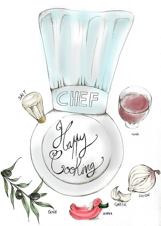 Happy Cooking 2 - 2015 - illustration - mendesana03 | ello