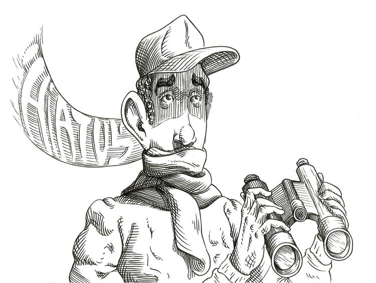 title - ink, blackandwhite, illustration - kaiman-6057 | ello