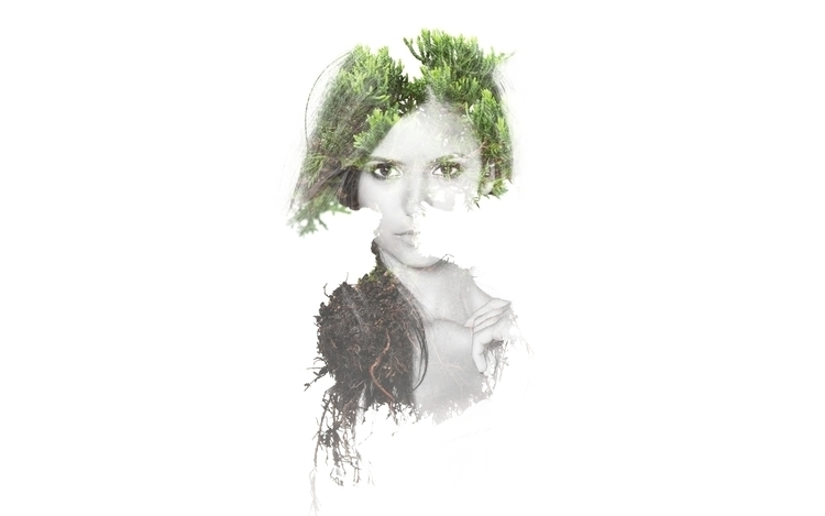 bonsai, girl, doubleexposure - valiente | ello