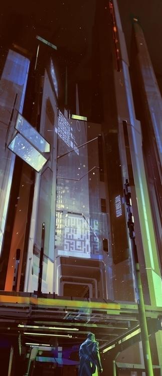 cyberpunk, conceptart, futurecity - bogdantufecciu | ello