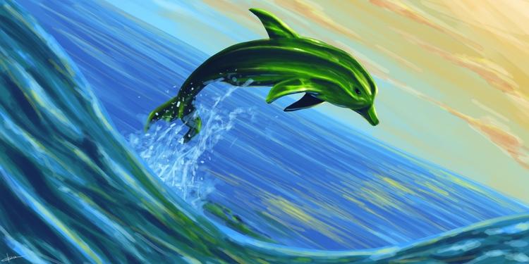 Okradolphin portrait friend. re - daftdoggui | ello