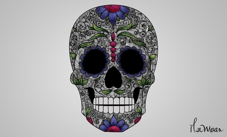 SUGAR SKULL - digitalillustration - ilsemoar | ello