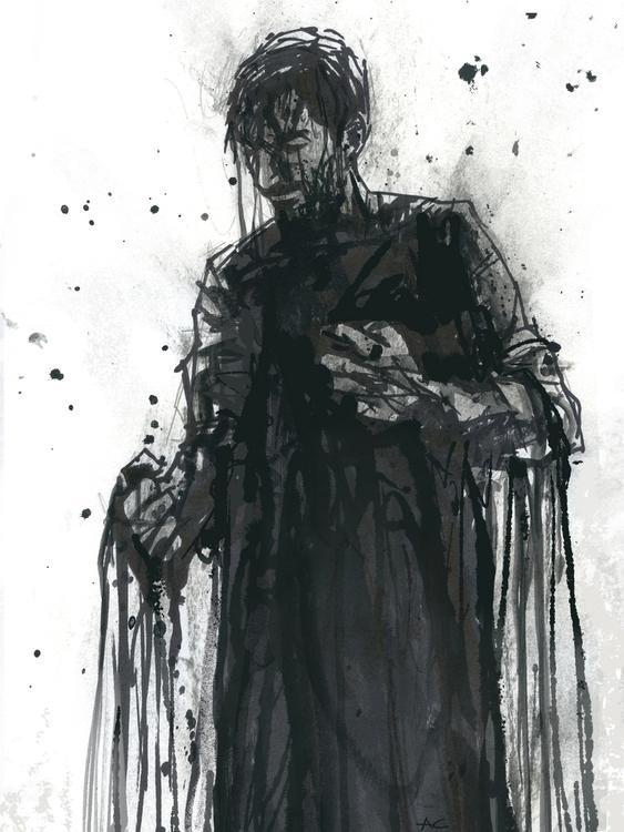 Black Soul - illustration, penink - andrewcherry   ello