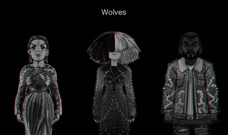 Kanye West_Wolves - doodle, wolves - soso-6104 | ello