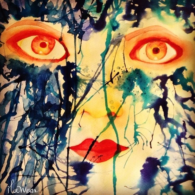 WOMAN EYES - illustration, painting - ilsemoar | ello