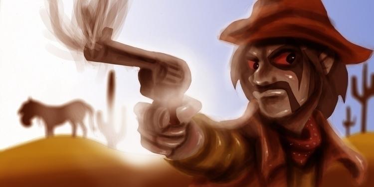 Cowboy Bounty Hunter - cowboy, bountyhunter - donoghmclaverty | ello