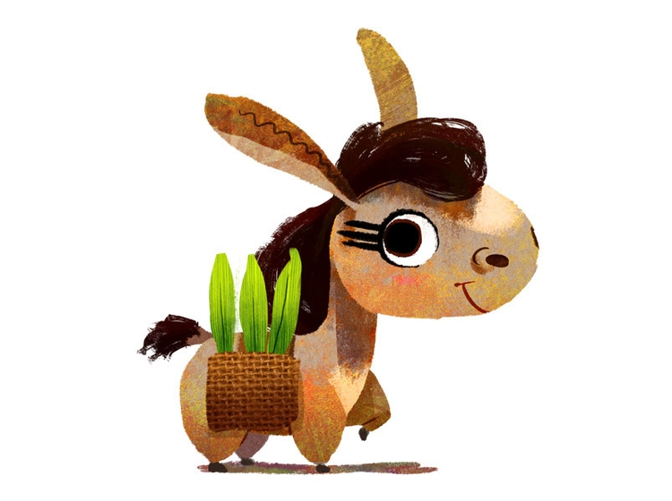 Tea Donkey - characterdesign, donkey - josecampa   ello
