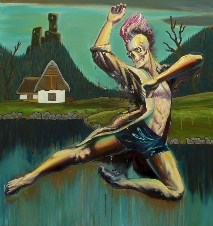 Dancing Death, oil canvas, 160x - lyube | ello