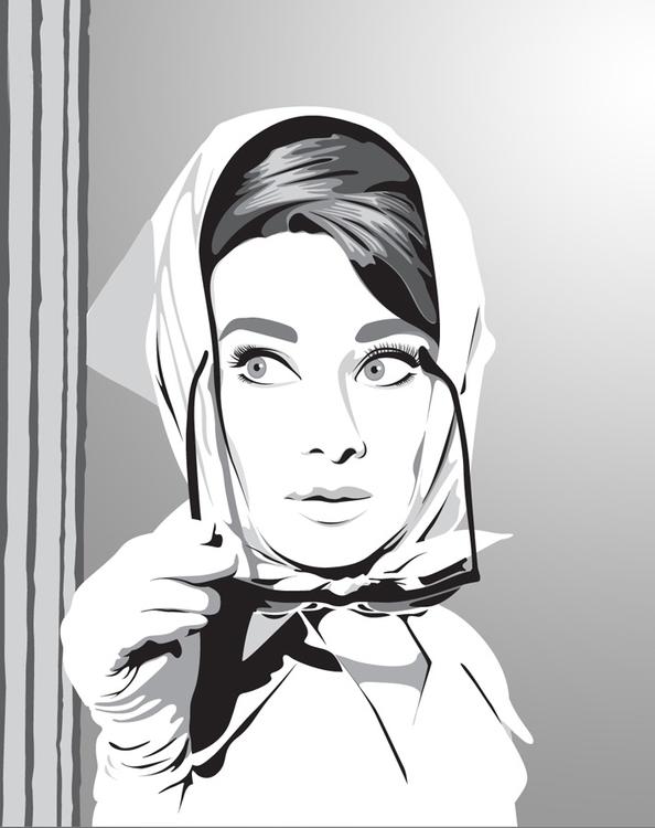 Audrey - illustration, vector, vectorillustration - ruperttc | ello