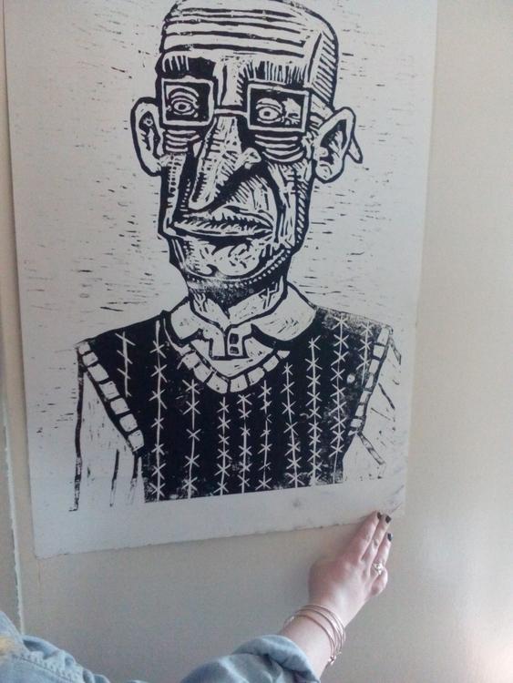 print dork - woodcut, printmaking - davewhelanart | ello