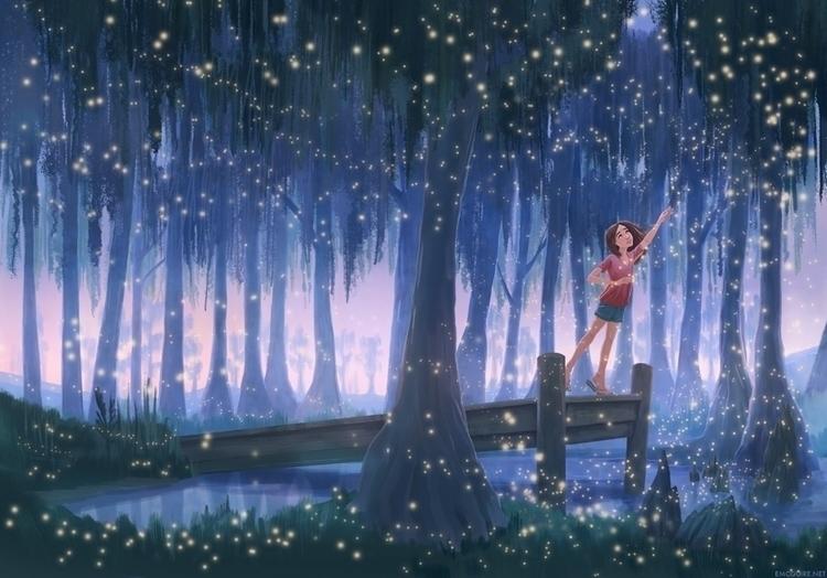 Time Fireflies - bookcover, kidlit - emcguire | ello