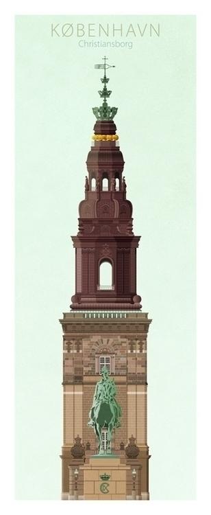 Christiansborg - illustration, design - do-6747 | ello