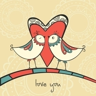 birds love - illustration, bird - yuliia_bahniuk | ello