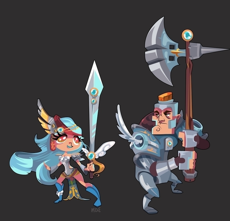 Knights designed game project - illustration - michieolive | ello
