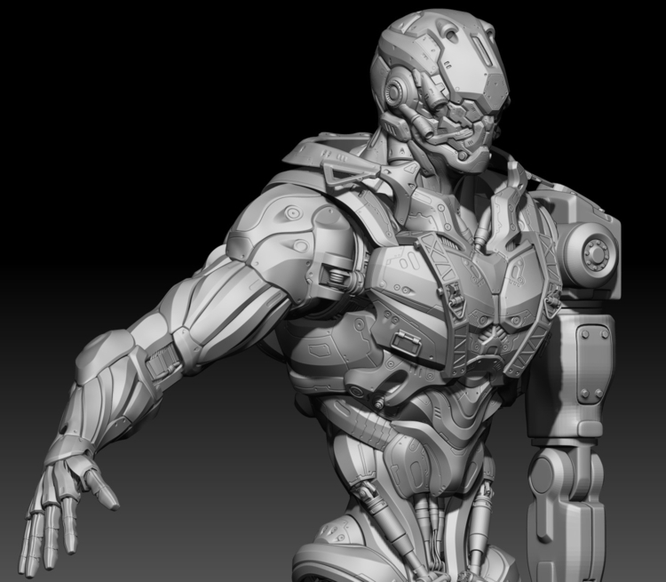 Alpha Robot_02 - illustration, characterdesign - namju | ello